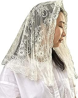 Soft French lace veil Wedding Veils Bridal Veil chapel veil mass veil Y014 (ivory)