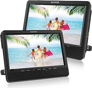 WONNIE 9.5 Car Dual Portable DVD Players, 1024×800 HD LCD TFT, USB/SD/MMC Card..
