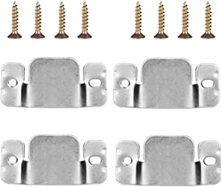 Mudder Universal Sectional Sofa Interlocking Sofa Connector Bracket with Screws, 4 Pieces