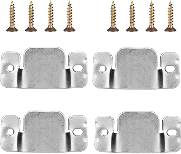 Mudder Universal Sectional Sofa Interlocking Sofa Connector Bracket With Screws 4 Pieces