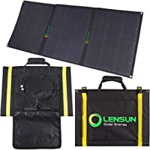 Lensun 100W Foldable Solar Panel, 12V Ultralight Folding Solar Charger with MC4 Solar Cables, Ideal for Camping van, RVS, Motorhomes, Caravans, Boat and Yachts