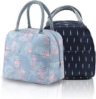2 pièces de sac à lunch portable, sac isotherme, sac à lunch, sac de pique-nique, sac de rangement des aliments, utilisé p...