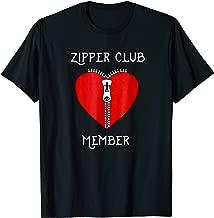 Zipper Club Member Graphic Heart Surgery Survivor T-Shirt