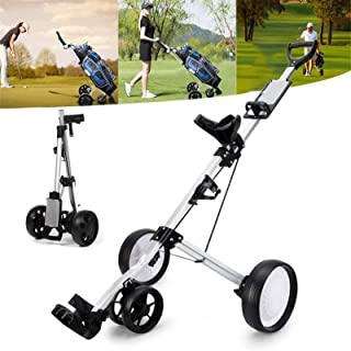 Golf Push Cart 4 Wheels Golf Professional Folding Golf Bag Outdoor Sport Multifunctional Foldable Push Pull Golf Cart