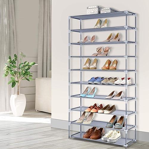 Artiss 10-Tier 50 Pairs Shoe Storage Chest Shelf Rack