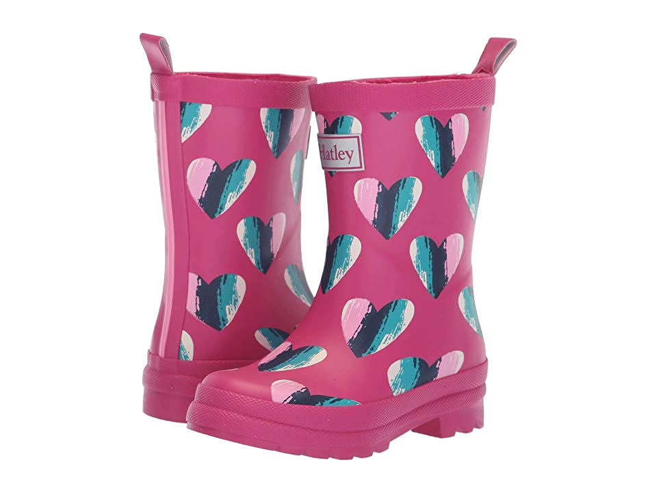 Hatley Kids Limited Edition Rain Boots (Toddler/Little Kid) (Hearts Pink) Girls Shoes
