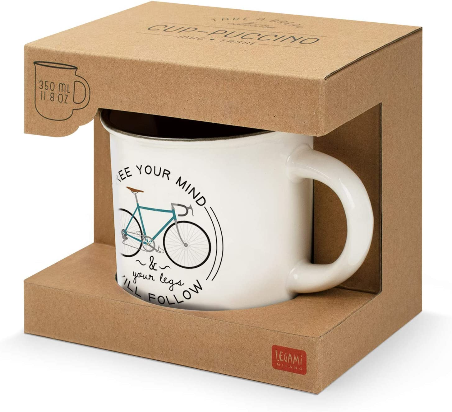 Legami CUP0024 Tasses porcelaine Bone China Bike