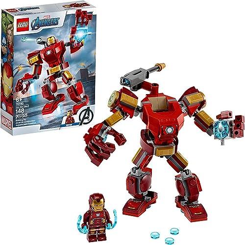 LEGO Marvel Avengers Iron Man Mech 76140 Kids' Superhero Mech Figure, Building Toy with Iron Man Mech and Minifigure ...