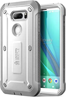 LG V30 Case, SUPCASE Full-Body Rugged Holster Case with Built-in Screen Protector for LG V30, LG V30s, LG V30 Plus,LG V35,LG V35 ThinQ 2017 Release, Unicorn Beetle PRO Series (White/Gray)