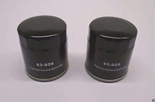 popular 2 Pack Oregon lowest 83-029 Oil high quality Filter for Generac 070185D 27 Micron outlet sale