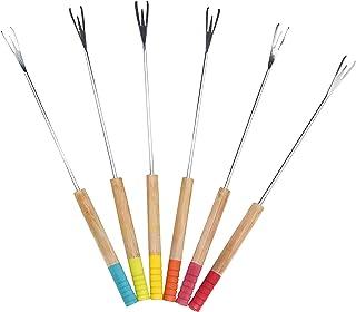 Pebbly NBA039 Set de 6 Piques à Fondue-Multico, Autre, Multicolore, 25cm