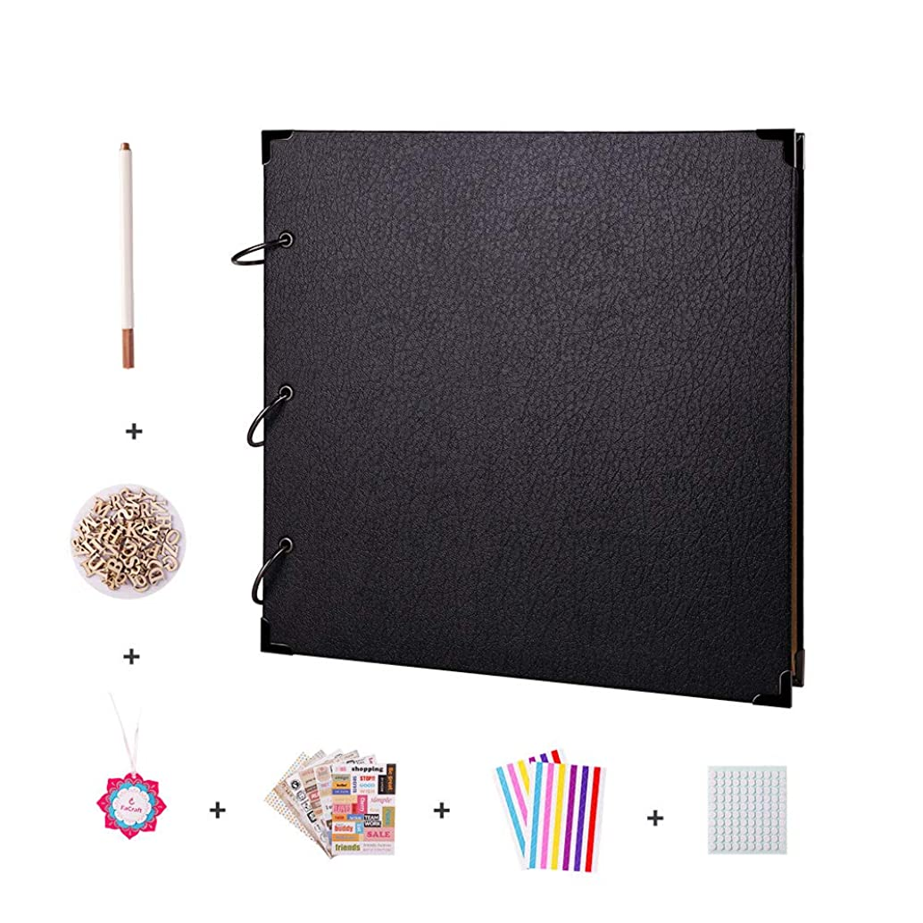 FaCraft Scrapbooking 12x12 with Accessiories for Gift (Black)