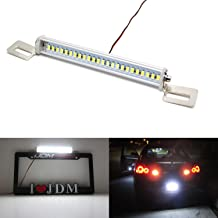iJDMTOY 35-074-White License Plate Frame Mount 12V 24-SMD High Power Xenon White LED Rear Backup Reverse Light Kit For Car SUV Truck VAN RV