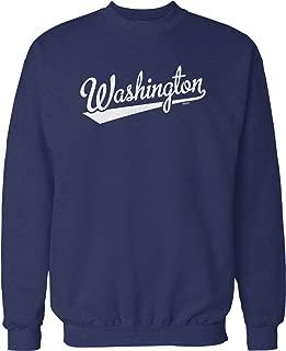 NOFO Clothing Co Washington Script Baseball Font Crew Neck Sweatshirt