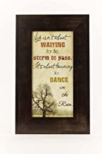 Life Isn't About Waiting For The Storm To Pass Dance In The Rain Art Decor 10x16