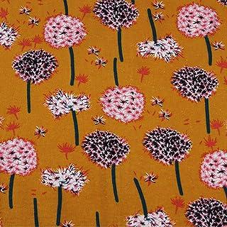 Jiacheng29 Lot de 7 tissus unis en coton pour patchwork floral Rose 25 x 25 cm