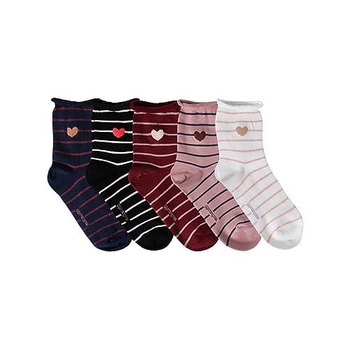 OSABASA Womens Fashion Cotton Crew Socks With Various Printing- 3 to 6 Pairs