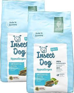 GREEN PETFOOD 1.8Kg 昆虫食O タンパク源(ミールワーム) 動物原料不使用 グレインフリー 5つの無添加(保存料、香料等) 成犬 全権種 中・大型犬 粒2Cm ドイツGMP工場生産