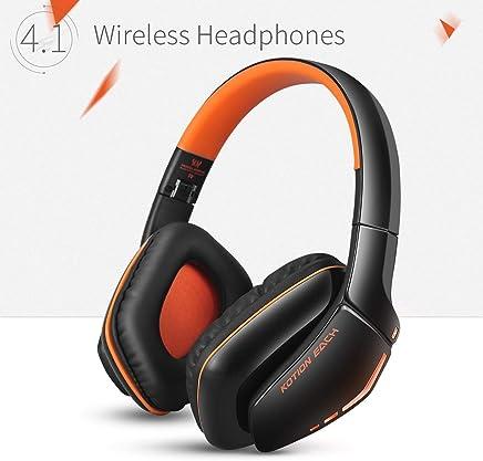 Cuffie Wireless Bluetooth KOTION EACH Gameing per PS4, Xbox One S, PC, Tablet, iPhone 5/5s 6/6S plus 7, Samsung S3/S4,HTC, Huawei, LG, Xiaomi, ipad e Mac Pieghevoli con Microfono Nero e Arancio - Confronta prezzi