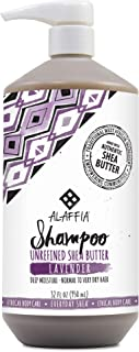 Alaffia - Everyday Shea Shampoo, Normal to Very Dry Hair, Helps Clean and Protect without Stripping Natural Oils with Shea Butter, Coconut and Lavender Oils, Fair Trade, Lavender, 32 Ounces