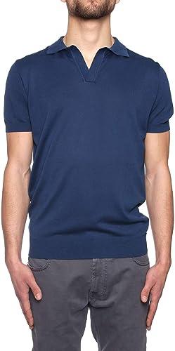 ORIGINAL VINTAGE Homme LEANDRObleu Bleu Coton Polo
