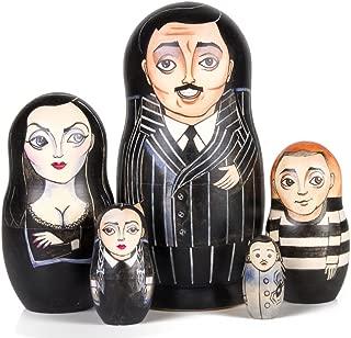 Books.And.More The Addams Family Nesting Doll Set of 5 pcs Matryoshka Dolls