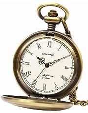 【リトルマジック】シンプル 懐中時計 メンズ レディース 【正規品】 チェーン 蓋付き 時計 ローマ数字 ナースウォッチ