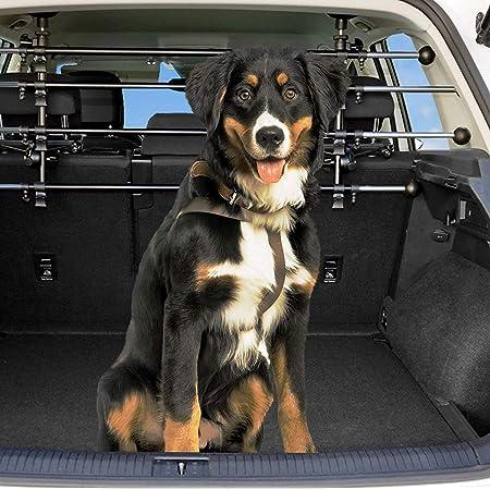 Dekolona Auto Hundegitter Mit Gratis Transporttasche Optimaler Halt Dank Teleskopstangen Kinderleichte Montage Ohne Werkzeug Universal Kofferraum Trenngitter Für Hunde Haustier