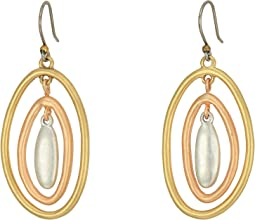 Lucky Brand - Tri-Tone Orbital Earrings