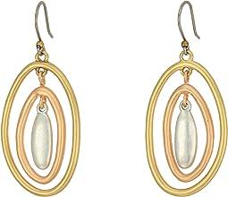 Lucky Brand - Tri-Tone Orbital Earrings