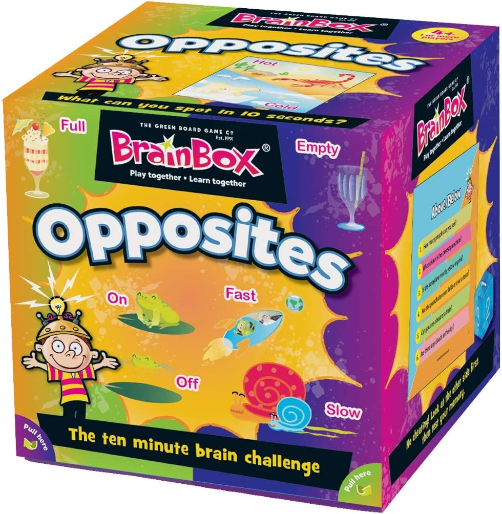 The Green Board Game Co.- BrainBox Opuestos, Color Juego de Cartas (Green Board Games 91028): Amazon.es: Juguetes y juegos