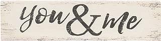 P. Graham Dunn You & Me Script Design White Wash 6 x 1.5 Mini Pine Wood Tabletop Sign Plaque