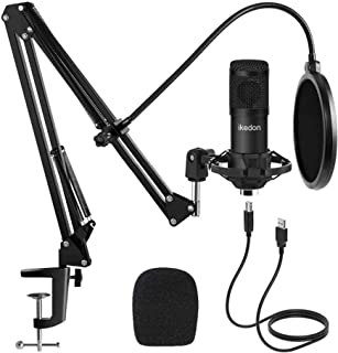 Studio USB Condenser Microphone, ikedon Professional...