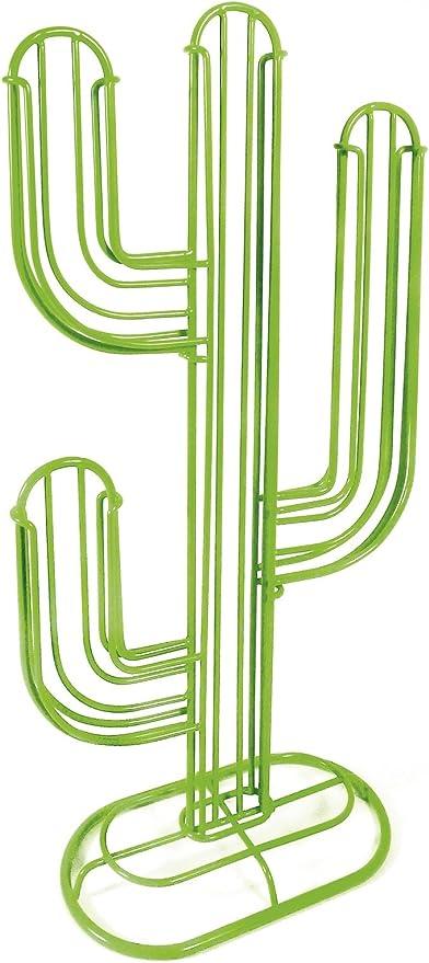 42x19x10cm negro SUNJULY soporte para c/ápsulas de caf/é Cactus El acero inoxidable puede contener 40 c/ápsulas de caf/é para ahorrar espacio para cocina hogar Soporte para c/ápsulas Nespresso oficina