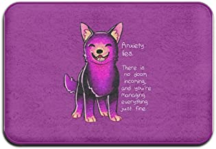 SVVOOD Cool Purple Cat Outdoor Indoor Antiskid Absorbent Bedroom Livingroom Bath Mat Bathroom Shower Rugs Doormats