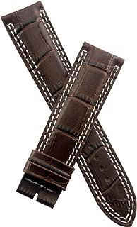 21 mm Dark Brown Alligator Style Leather Strap to fit Jager le Coultre Master Compressor 41.5 mm Models