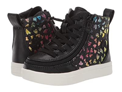 BILLY Footwear Kids Classic Lace High (Toddler) (Black Heart) Girl