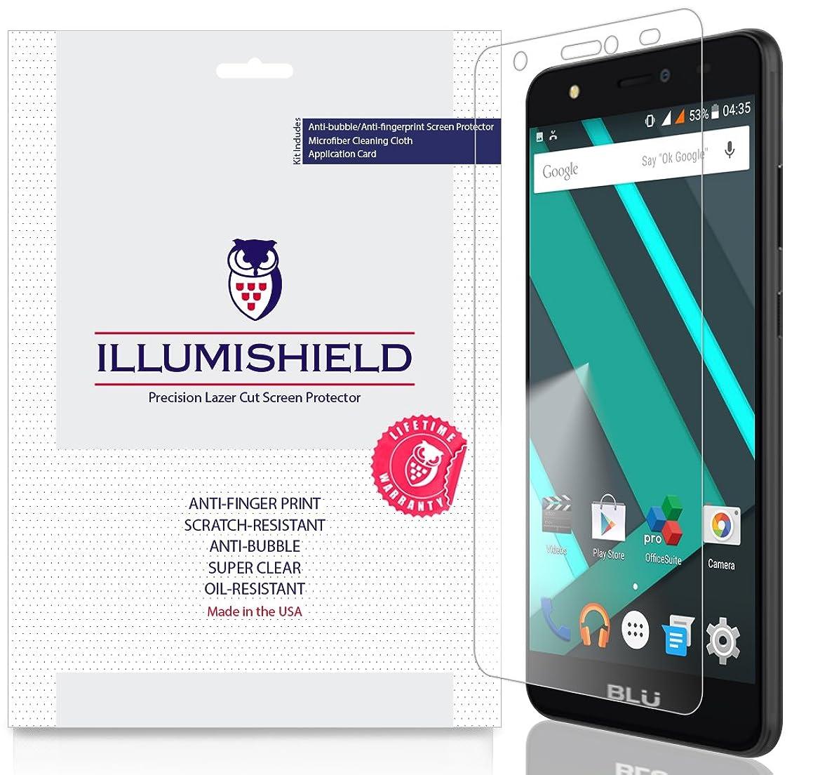 BLU Studio J8 Screen Protector (LTE Compatible)[3-Pack], iLLumiShield Screen Protector for BLU Studio J8 Clear HD Shield with Anti-Bubble & Anti-Fingerprint Film