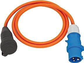 Brennenstuhl Verloopkabel Camping / CEE Verloopkabel met CEE-stekker en koppeling (1,5m kabel in oranje, H07RN-F 3G2.5, 23...