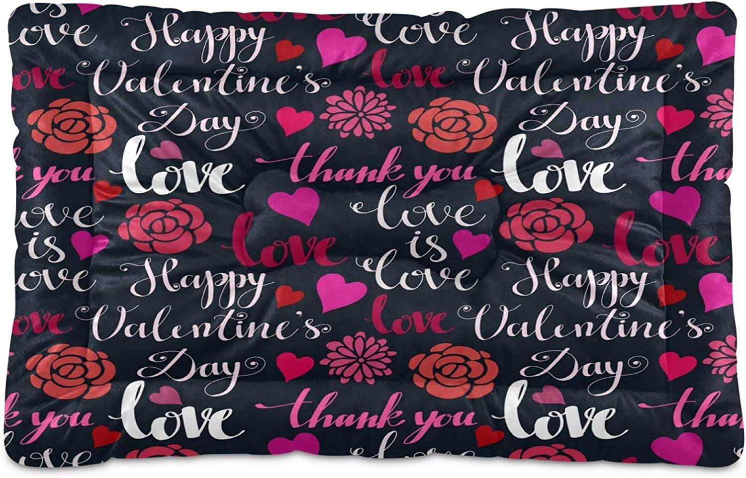 Max 85% OFF Nander Rose Flower Love Valentine Comfortable Dog Pad Crate Sales results No. 1 Beds