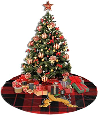 Amazon Com Dabbing Dab Santa Dachshund Dog Christmas Themed 30 36 48 Inch Big Giant Christmas Tree Skirt Carpet Mat Rugs Cover Large Round Pad Classic Xmas Party Favors Ornament Decoration Supplies Home