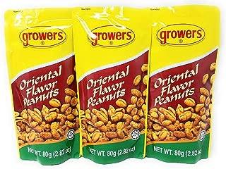 Growers Oriental Peanuts, 80g, 3 Pack