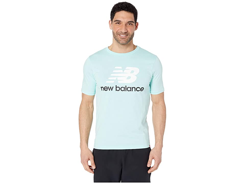 New Balance Essentials Stacked Logo Tee (Light Reef) Men