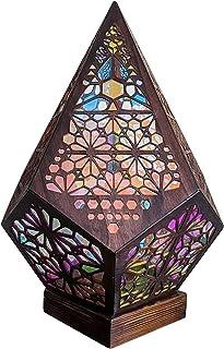 Lampadaire Polestar, lampe diamant coloré LED, lampadaire décoratif bohème, lampe creuse de projection 3D colorée, cadeaux...