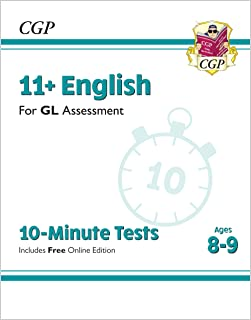 11+ GL 10-Minute Tests: English - Ages 8-9 (with Online Edition)