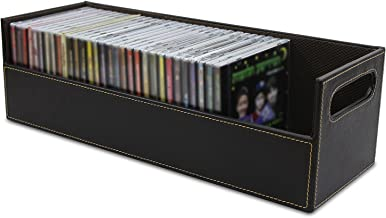 Stock Your Home CD Storage Box with Powerful Magnetic Opening - CD Tray Holds 40 CD Cases for Media Shelf Storage and Organization