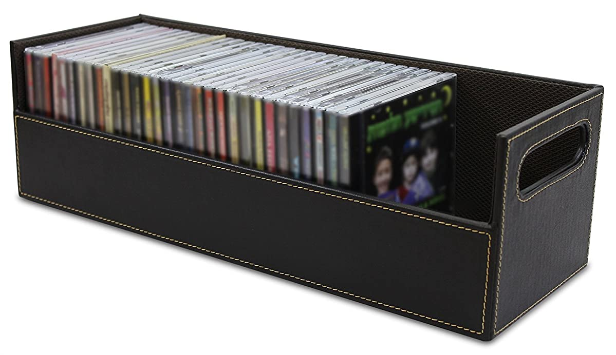Stock Your Home CD Storage Box with Powerful Magnetic Opening - CD Tray Holds 40 CD Cases for Media Shelf Storage & Organization