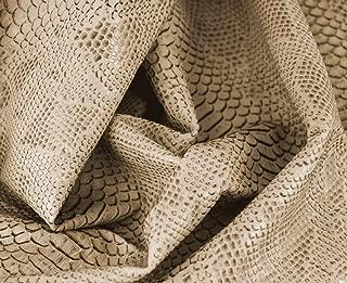 0,50 Metros de Polipiel para tapizar, Manualidades, Cojines o forrar Objetos. Venta de Polipiel por Metros. Diseño Drak Color Ecru Ancho 140cm