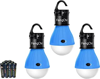 FengChi LED Camping Lantern, [3 Pack] Portable Outdoor Tent Light Emergency Bulb Light for Camping, Hiking, Fishing,Hurricane, Storm, Outage