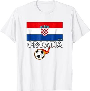 Croatia Soccer Jersey Russia 2018 Football Team Fan T-Shirt